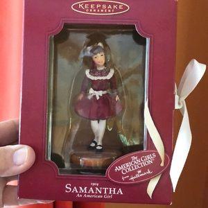 "AG Hallmark hanging ornament ""Samantha"""